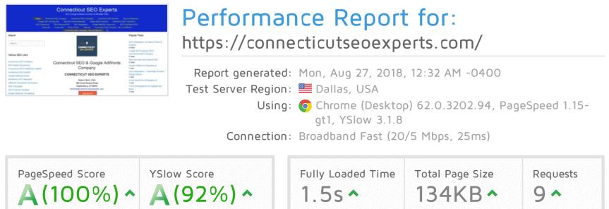 `0% Google Page Score