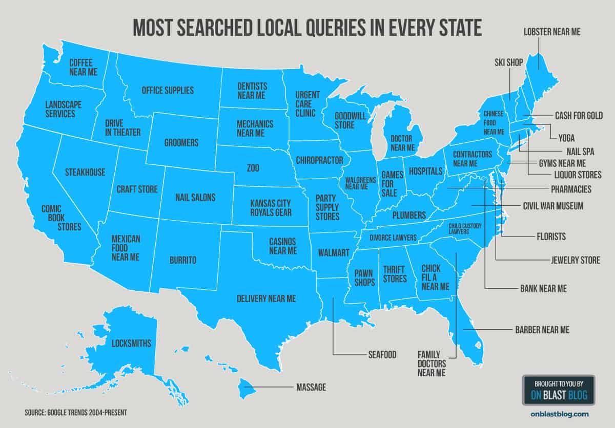google trends map - Local SEO